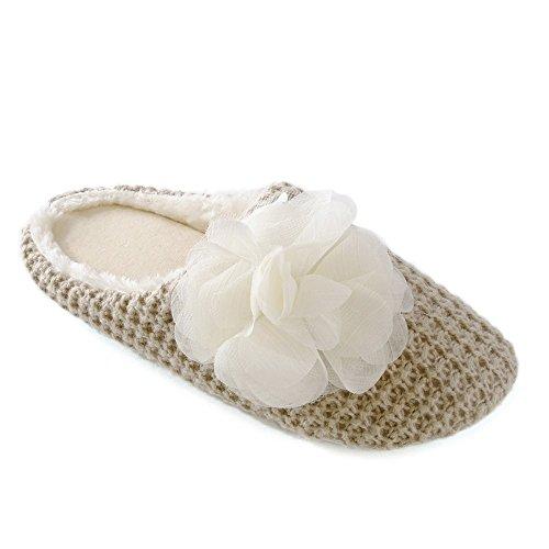 SlumberzzZ - Zapatillas de estar por casa para mujer Beige