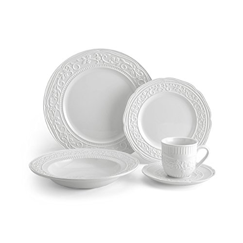 - Mikasa 5224198 American Countryside 40-Piece Dinnerware Set, Service for 8