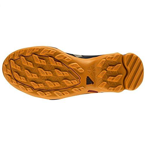 Adidas Terrex al aire libre Swift R Senderos de zapatos - Negro / Gris Vista / blanco 6 Earth, Black, Tech Orange