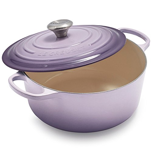 (Le Creuset Signature Provence Enameled Cast Iron 7.25 Quart Round Dutch Oven)
