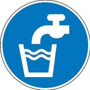 Agua potable señal, autoadhesivos. Protector de pantalla ...
