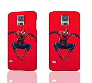 The Amazing Spider-Man Pattern Image - Protective 3d Rough Case Cover - Hard Plastic 3D Case - For Samsung Galaxy S5 i9600