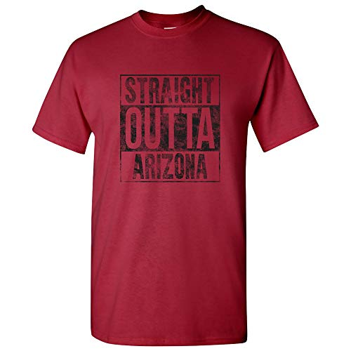 - Straight Outta Arizona - Phoenix Football T Shirt - 3X-Large - Cardinal