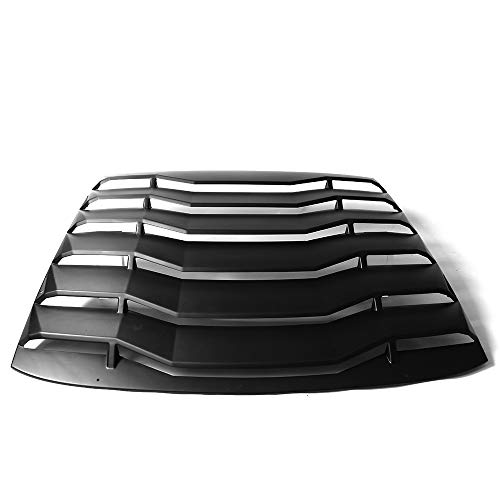 Rear Window Windshield Louver Compatible With 11-16 Scion TC Unpainted PP by IKON MOTORSPRTS