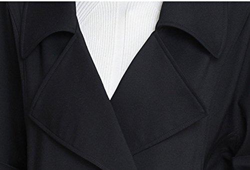Größe Frauen 200 Pfund Fett Mm Lose Signifikante Schlaksige Weiblichen Windjacke,Black-XL