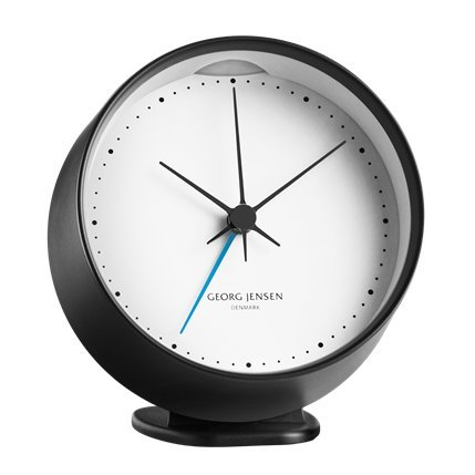 georg-jensen-hk-clock-w-alarm-black-white-10-cm