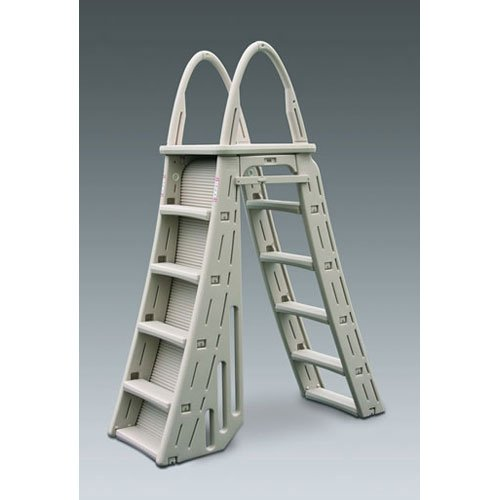 Blue Wave Roll Guard A-Frame Above Ground Pool Ladder- Warm Gray by Blue Wave