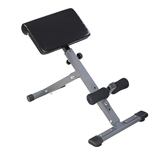 Goplus Adjustable AB Back Bench Hyperextension Exercise Abdominal Roman Chair (Bench Roman)