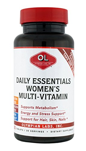 Olympian Labs Daily Essentials Multivitamins for Women's, 30 Tablets