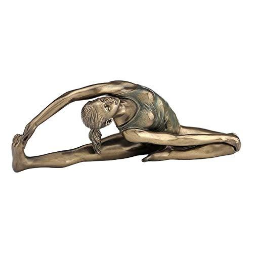 (XoticBrands Yoga ?Revolved Head-to-Knee - Yoga, Performance Art - Cold Cast Bronze)