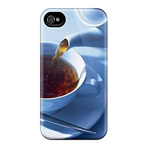 High Grade DavidKearns Flexible Tpu Case For Iphone 4/4s - Cup Of Tea