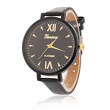Fashion Watches Fashion Ladies Leather Watches Women Beauty Dress Quartz Wristwatch Hours Reloj Mujer (Color
