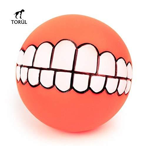 Torúl Juguete Bola de Goma Sonrisa Dentadura para Mascotas Perro 7,5cm diámetro (Rojo): Amazon.es: Productos para mascotas