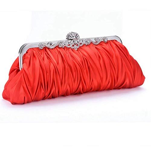 Mano Bolsos Lindo Aboyzj Noche Beige color Bolso Mujer Red Las Monederos Pequeño Mujeres Para Tarjeteros De Billeteros Seda Embragues Mini Embrague Cóctel OxBqxXv