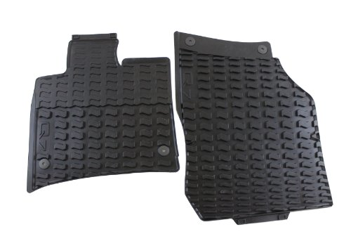 AUDI Genuine Accessories 4L1061221041 Black Rubber Front All Weather Floor Mat Q7, (Set of 2)