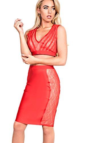 Mollie Womens Ikrush Vendaje Bralet Red gw56RqP5U