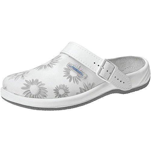 Abeba 8220-43 Arrow Chaussures sabot Taille 43 Blanc