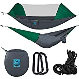 Ridge Outdoor Gear Camping Hammock with Mosquito Net - Ripstop Nylon - Ultralight Hammock Tent Bundle with Bug Netting, Ropes, Carabiners