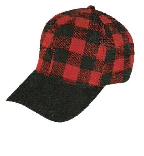 red-black-buffalo-plaid-suede-bill-elmer-hunting-cap