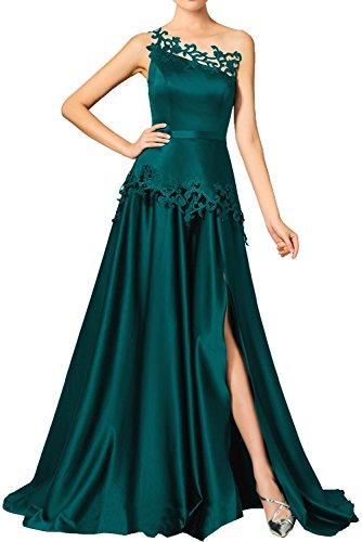 Cocktailkleider Ein Traeger Promkleider Blaugruen A Damen Linie Ivydressing Abendkleider Applikationen Partykleider Vintage Asymmetrisch Schleppe mit tgY8xwfq