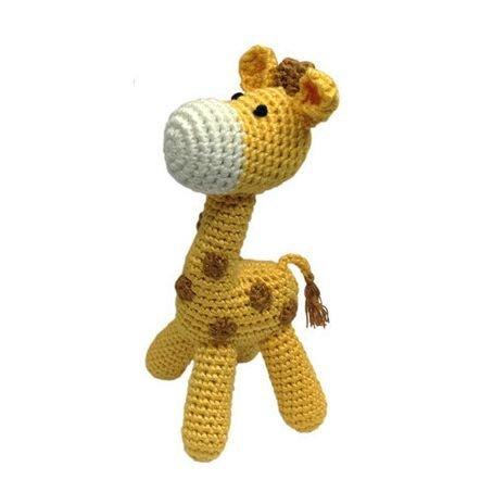 Cheengoo Organic Hand Crocheted Giraffe - Giraffe Rattle Toy