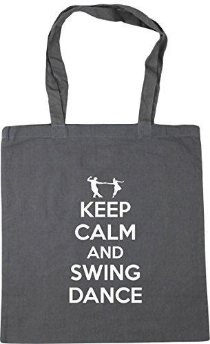 HippoWarehouse calm Bag and x38cm Beach Grey 10 Keep Graphite Gym 42cm swing Tote Shopping dance litres BgrBfwq5H