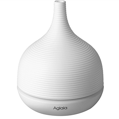 Aglaia 500ml 16Hours Aromatherapy Essential Oil Diffuser Ultrasonic Cool Mist Humidifier with Time Setting, Waterless Auto Shut-off and Color LED Lights Changing for Home Yoga Office Bedroom Baby Room