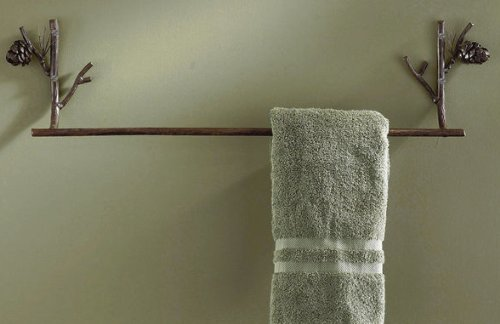 "Western Crossed Arrow Metal Bathroom Towel Rack - 30.5"" 60%OFF"