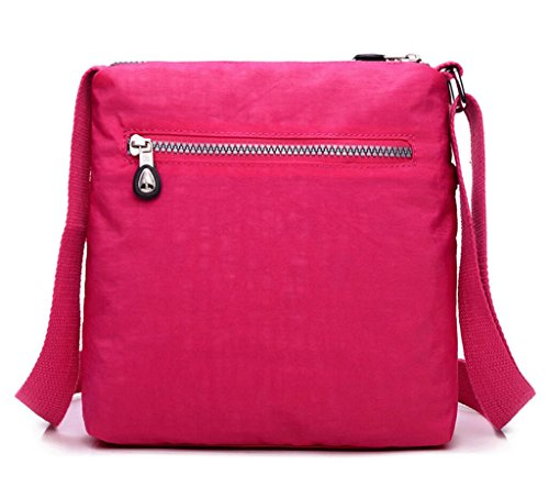 Water Bags Cross Fashion Women Handbags and Shoulder Nylon Bag Messenger Purses amp;Girls for Purple resistant body p1xwIxAX