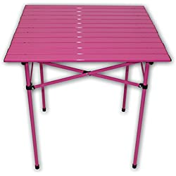 Table in a Bag TA2727F Tall Aluminum Portable Table with Carrying Bag, Fuchsia