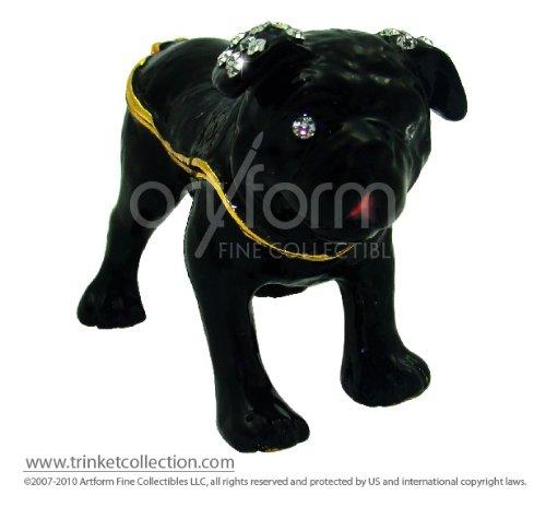 "Objet D'Art Release #407 ""Affenpinscher"" Great Canines of the World Handmade Jeweled Metal & Enamel Trinket Box"