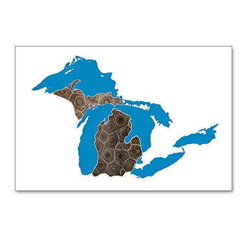 CafePress - Great Lakes Michigan Petoskey Stone Postcards (Pac - Postcards (Package of 8), 6