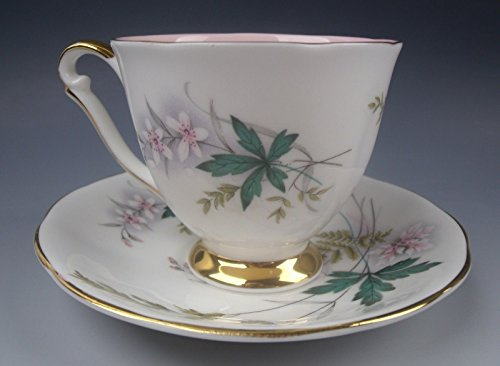 Queen Anne Cup Saucer - Queen Anne China LOUISE-PINK CENTER Demitasse Cup & Saucer Set(s) EXCELLENT