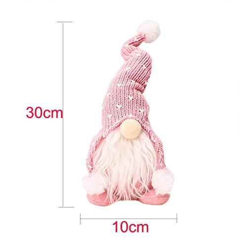 30cm Handgemachte Weihnachten Deko Wichtel Figuren süße Weihnachtsmann Santa Tomte Gnom, Skandinavischer Zwerg Geschenke für Kinder Haus Weihnachten Ostern (A#02)