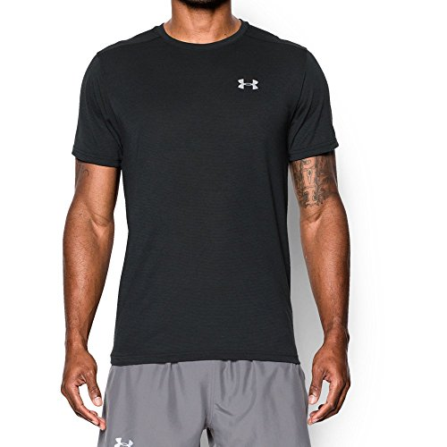 - Under Armour Men's Threadborne Streaker Short Sleeve Shirt, Black /Reflective, Medium