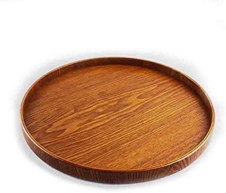 Wooden Plate Dessert Cake Dish Snack Tea Serving Tray Fruit Platter Decor