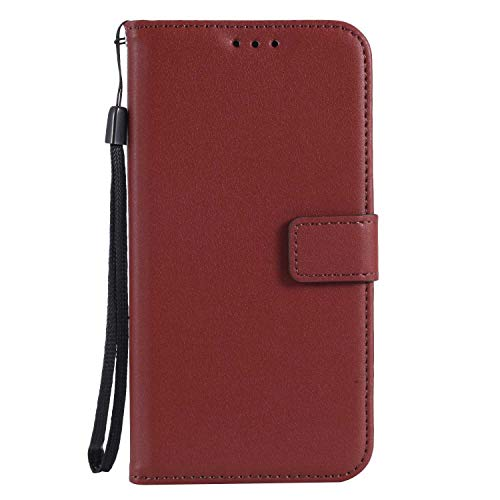 UNEXTATI Galaxy J1 2016 Case, Leather Magnetic Closure Flip Wallet Case with Card Slot and Wrist Strap, Slim Full Body Protective Case (Brown #6) by UNEXTATI (Image #5)