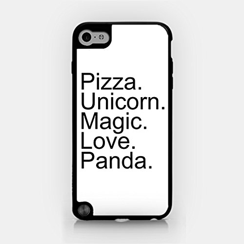for iPod Touch Gen 5 - Pizza. Unicorn. Magic. Love. Panda. - Good Things In Life - Hipster (Ipod 5th Generations Frozen Cases)
