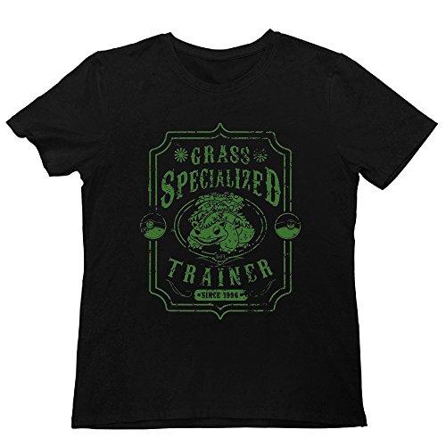 Mens Pokemon Venusaur Grass Specialized Trainer Logo O-Neck T Shirt