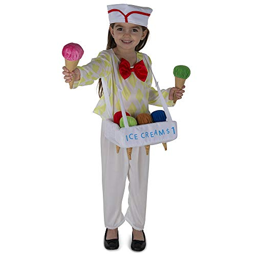 Dress Up America Ice Cream Vendor Costume for Kids - Product Comes Complete with: Shirt, Pants, Ice Cream Tray, Six Cones and Hat (Toddler