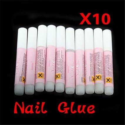 Pegamento de uñas transparente fuerte adhesivo 10 x 2 g acrílico uñas postizas consejos arte vendedor