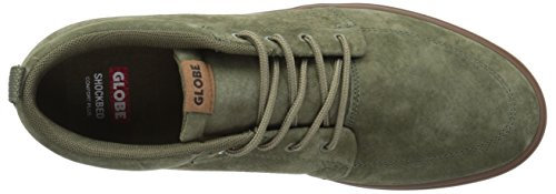 Olive / Gomme Hommes Globe Gs Chaussure Chukka Patin Brûlé