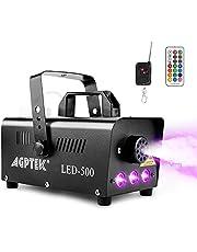 Dimmaskin, AGPtEK rökmaskin med 13 färgade LED-lampor och RGB-effekt, 500 W och 2 000 CFM med 2 kabelanslutna och radiofjärrkontroller, perfekt för bröllop, halloween och scenshower