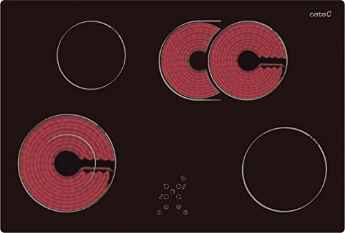 Marken Glaskeramikkochfeld Ceran/Glaskeramik  CATA TCDO 704 / 77 cm / HiLight Autark / Akustisches Warnsignal / 9 Leistungsstufen / Sicherheitssperre / Restwärme indicator / Atomatische Ausschaltfunktion / Timer für jedes Kochfeld / EU Qualität seit 1947