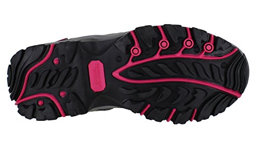 Fuchsia Leland Womens up Lace Grey Territory Trainers Hiking Northwest Shoes Leather Walking 1SwPq55