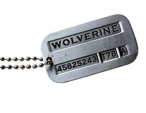 Couples Costume Birth (Tojwi Male Cool Kpop X-men Wolverine 2 Necklace Vintage Weapon-X Dog Tags Pendant - Fashion Design)