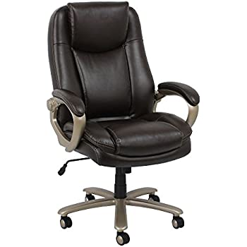 Amazon.com: Essentials Big and Tall Leather Executive Chair - High ...