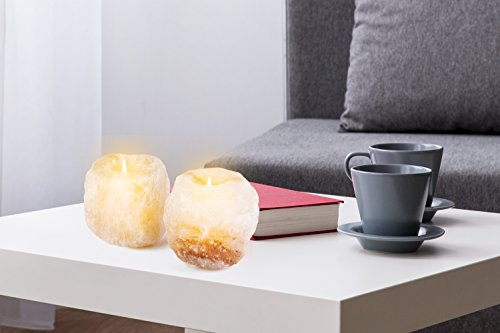 Mockins 6 Pack Natural Himalayan Salt 2.5-lbs Tea Light Holder … by Mockins (Image #2)