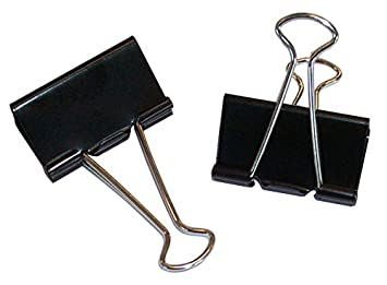 Klemmweite: 9 mm 25 mm WEDO Foldback-Klammer, schwarz B