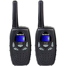 Retevis RT628 VOX UHF Portable 22 Channel FRS Kids Walkie Talkies (Black,1 Pair)
